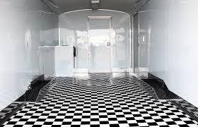 checd vinyl flooring black and white