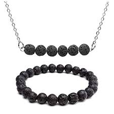 top plaza lava rock stone essential oil diffuser necklace bracelet healing energy crystal gemstones beads