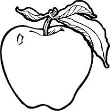 apple fruit black and white. pin apple clipart balck white #4 fruit black and