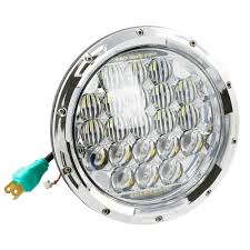 Jeep Tj Fog Light Bulb Replacement Us 53 06 45 Off 7inch 5d 75w Replacement Projector Led Headlight With White Drl Angel Eyes For Jeep Wrangler Jk Tj Hummer H1 H2 Patrol Y60 In Car