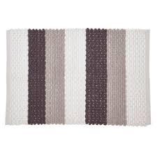grey wide stripe mat