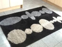 gy rug ikea black and white australia