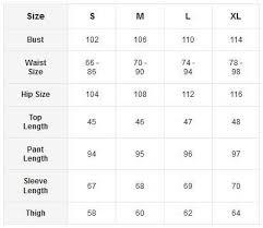 Iris Size Chart Iris Athleisure Set Erika En 2019