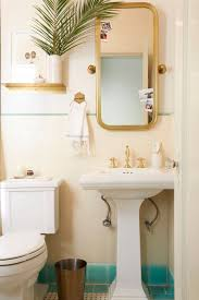 Apartment Rental Bathroom Makeover Takeover Redesign Brady Tolbert White  and Turquoise_002