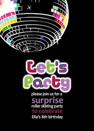 Childrens Disco Invitations Free Printable Disco Party Invitations Templates In 2019