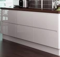 Kitchen Floor Units Lucente White High Gloss Handleless Kitchens