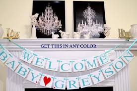 Welcome Home Baby Boy Banner Baby Shower Decorations Welcome Baby Banner Shower Home