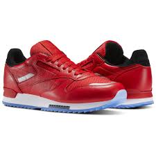 reebok shoes red and black. reebok - classic leather ripple low bp primal red / white black asteroid dust shoes and r