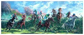 roy lyndsay artist l equestrian paintings l horse paintings l horse racing paintings
