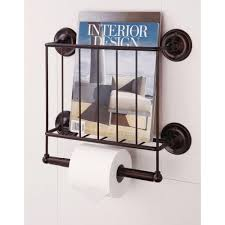 wall hanging magazine rack. Simple Hanging W Wall Mount Magazine Rack With Toilet Paper Holder In Bronze For Hanging A