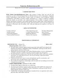 Cath Lab Nurse Resume Sample Cover Letter Resume For Surgical Technologist Objective Nurse 2