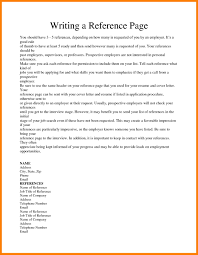 Resume Reference Page Ithacaforward Org How To Write For 8 C Peppapp