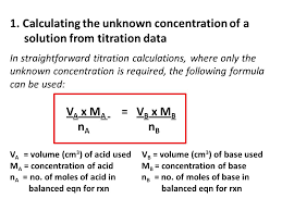 Titration Formula Volumetric Analysis Acid Base Ppt Video Online Download