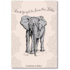 What Are Save The Date Cards Elephant Save The Date Card