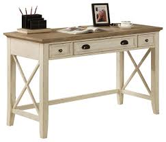riverside furniture coventry two tone writing desk in dover white transitional desks and