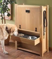 Wood Dog Food Drawer Station
