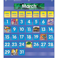 Scholastic Monthly Calendar Pocket Chart Beckers School Supplies
