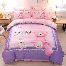 kids duvet covers cute cartoon bear panda dog print kids bedding set queen king size duvet kids duvet covers