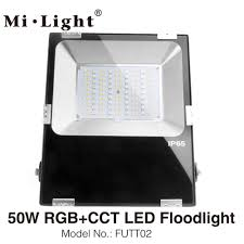 Wifi Outdoor Lights Us 8 78 17 Off Futt02 Milight 50w Rgb Cct Led Floodlight Ac110v 2620v Ip65 Waterproof Outdoor Lighting 2 4g Wireless Remote Wifi Compatible In