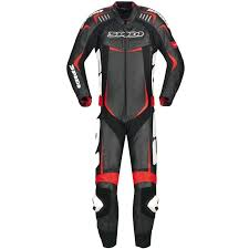 spidi track wind pro leather suit black red clothing suits spidi road runner