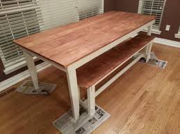 Rustic Furniture Stain Rustic Table And Bench Minwax Honey Stain Wood Finishes