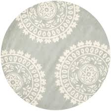safavieh bella grey ivory 7 ft x 7 ft round area rug