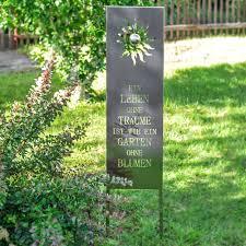Steckschild Edelstahl Gartendekoration Mit Spruch Gartenschild