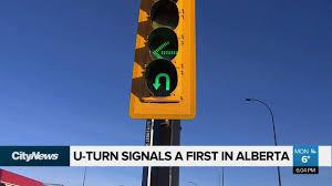 Alberta Traffic Lights U Turn Signals A First In Alberta