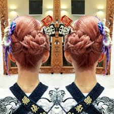 潮来祭り お祭り ヘアセット Hairstyle Hairset 夏 和髪 編み込み