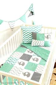 mint green and gray bedding modern interior design with nursery set diffe pattern in one grey