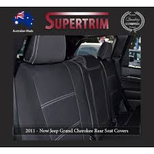 2nd row seat covers armrest access snug fit for grand cherokee wk 2016 now premium neoprene automotive grade 100 waterproof