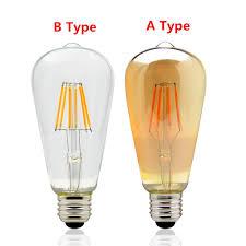 Vintage Clearance Lights Us 4 15 25 Off Ac 220v Vintage Edison Dimmer Light E27 Led Bulbs St64 Warm White 2200k 2700k Led Lamp Dimmable Retro Light For Home Decoration In