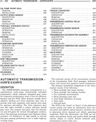 automatic transmission 45rfe 545rfe pdf 442 assembly 443 shift mechanism description 444 operation