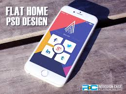 Mobile Home Design App 2 Flat Home Psd For Mobile App