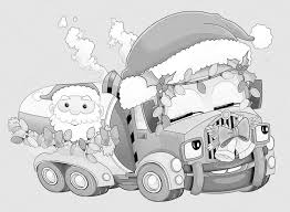 Kleurplaat Kerstmis Auto Stockfoto Illustratorhft 53736101