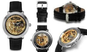 louis bolle lb91408 men s mechanical rose gold skeleton black new louis bolle lb91408 men s mechanical gold skeleton fancy black leather watch