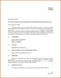 Examples Of Letter Of Intent Commercial Real Estate Lease Letter Of Intent Template