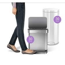 Purple Bathroom Bin Cw2028 Simplehuman 30l Rectangular Pedal Bin With Bin Liner Pocket