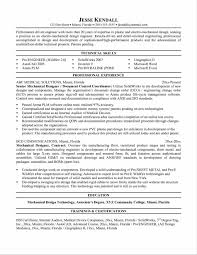 Manufacturing Engineer Resume Template Fascinating Mechanical Designer Resume Templates With Resume For 24