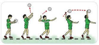 Berikut gerak passing bawah permainan bola voli, yaitu gerak servis bawah. Materi Pembelajaran Permainan Bola Besar Melalui Permainan Bola Voli Pustaka Belajar