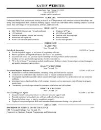 Best Help Desk Resume Example Livecareer