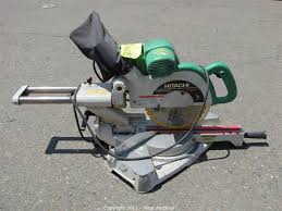 hitachi miter saw. third of five equipment blowout auctions in west sacramento, california hitachi miter saw