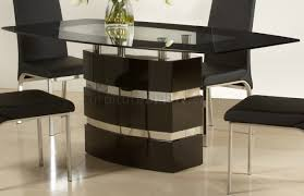 High Gloss Dining Table High Gloss Finish Modern Dining Table W Optional Chairs