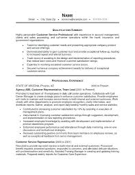Customer Service Resume Summary Delectable Resume Sample Summary Resume Template For Customer Service Sample