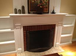 fireplace facelift built in bookcases