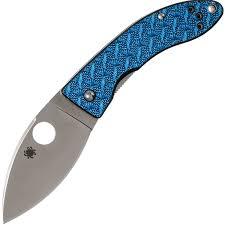 <b>Нож складной</b> Spyderco <b>Lil</b>' <b>Lum</b> Blue Nishijin - 205GFBLP, сталь ...