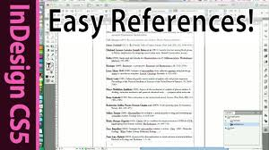 Indesign Easy Reference List And Citation Of Scientific Papers Cs5 Tutorial Part 8