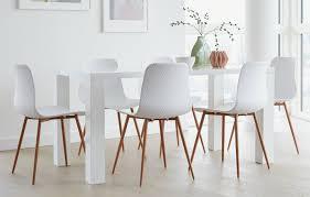 talisa rectangular dining set 6 seats white
