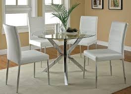 Clio Modern Round Glass Kitchen Table Set