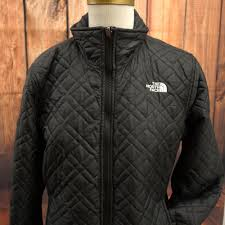 details about the north face womens black quilted puffer er winter coat jacket size m
